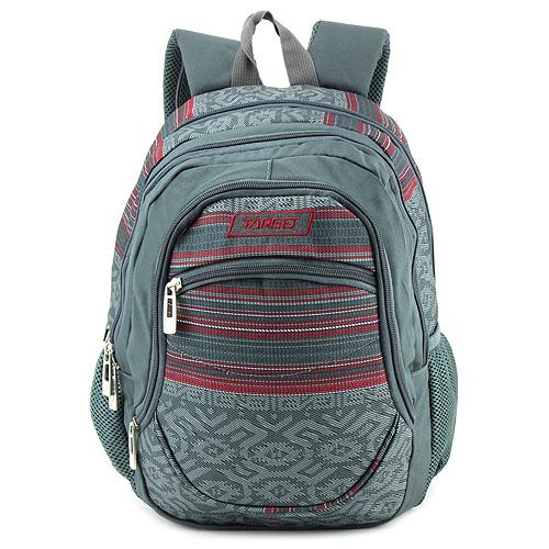 Školní batoh Target Červeno-šedý se vzorem