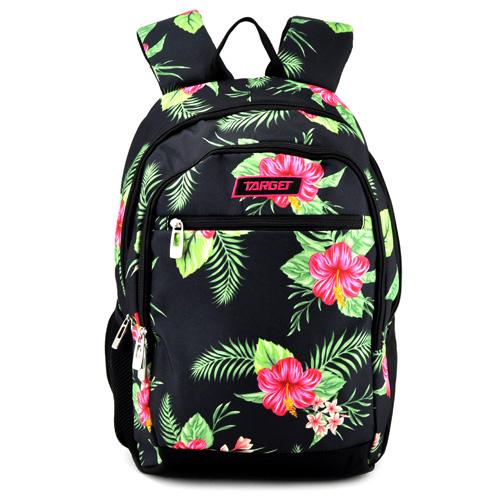 Studentský batoh Target Květiny, černý