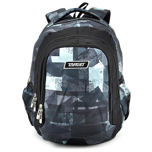 Školní batoh Target Modro-šedý se vzorem