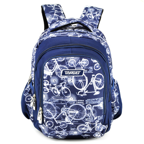 Školní batoh Target Modro-bílý s motivem kol