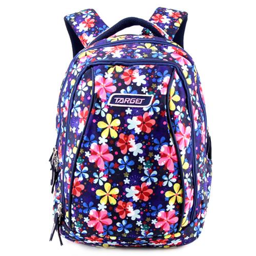 Školní batoh 2v1 Target Barevné květy, barva modrá