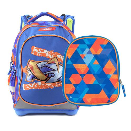 Školní batoh Target Graffiti, modro-oranžový