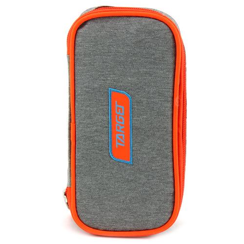 Školní penál bez náplně Target Compact, oranžovo-šedý