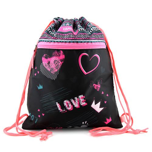 Sportovní vak Target Love, růžovo-černý