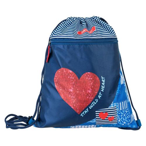 Sportovní vak Target Srdce, modrý