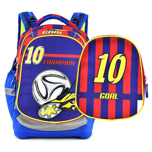 Školní batoh Target Fotbal, červeno-modrý