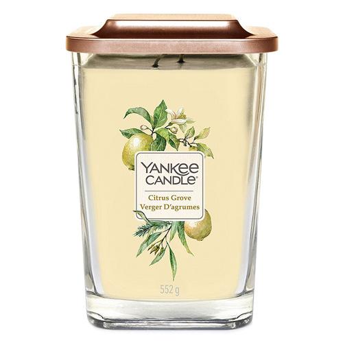 Svíčka ve skleněné váze Yankee Candle Citrusový háj, 552 g