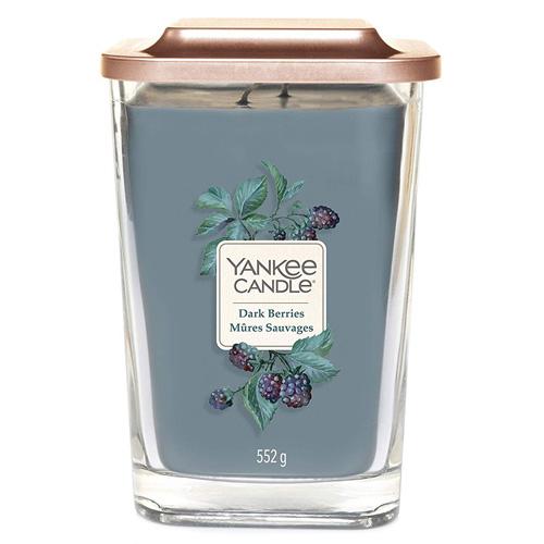 Svíčka ve skleněné váze Yankee Candle Ostružina, 552 g