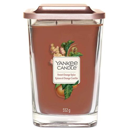 Svíčka ve skleněné váze Yankee Candle Sladký pomeranč a koření, 552 g