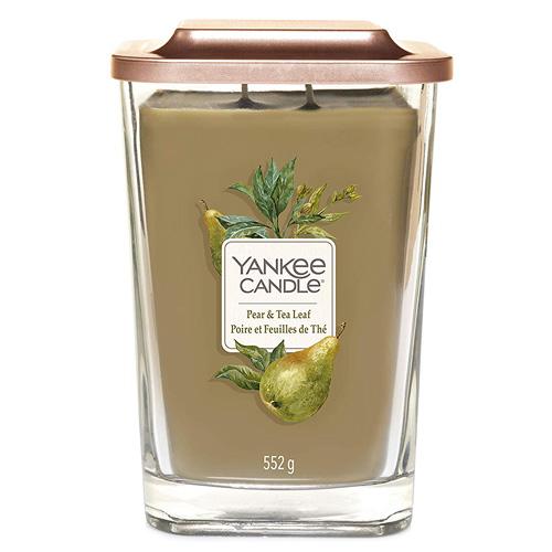 Svíčka ve skleněné váze Yankee Candle Hruška a čajové lístky, 552 g