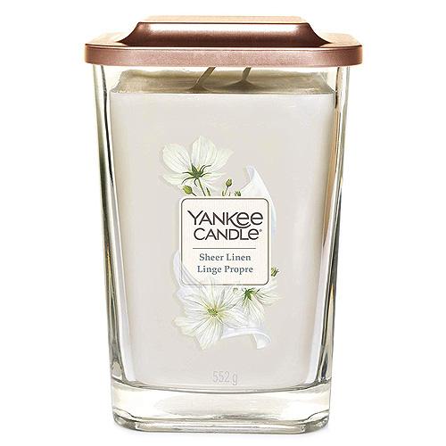 Svíčka ve skleněné váze Yankee Candle Čisté prádlo, 552 g