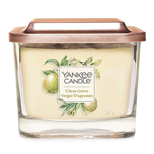 Svíčka ve skleněné váze Yankee Candle Citrusový háj, 347 g