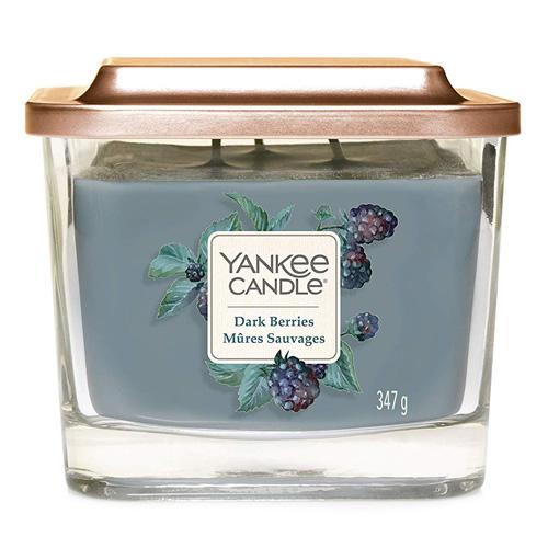 Svíčka ve skleněné váze Yankee Candle Ostružina, 347 g