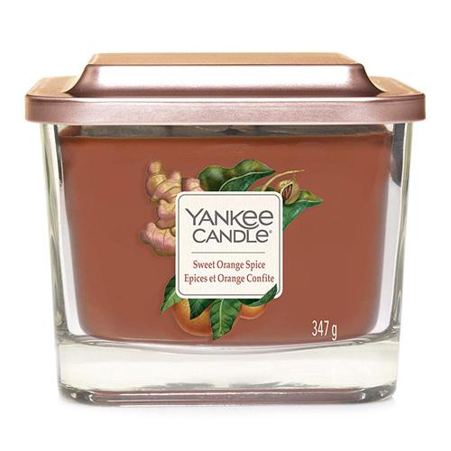 Svíčka ve skleněné váze Yankee Candle Sladký pomeranč a koření, 347 g