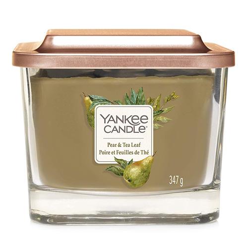 Svíčka ve skleněné váze Yankee Candle Hruška a čajové lístky, 347 g
