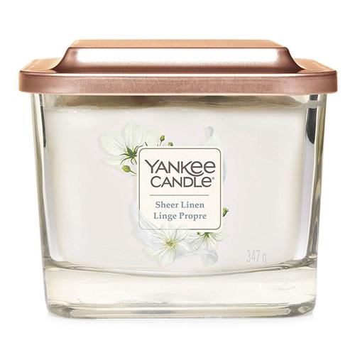 Svíčka ve skleněné váze Yankee Candle Čisté prádlo, 347 g
