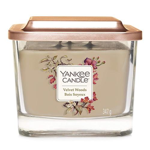 Svíčka ve skleněné váze Yankee Candle Sametové dřevo, 347 g