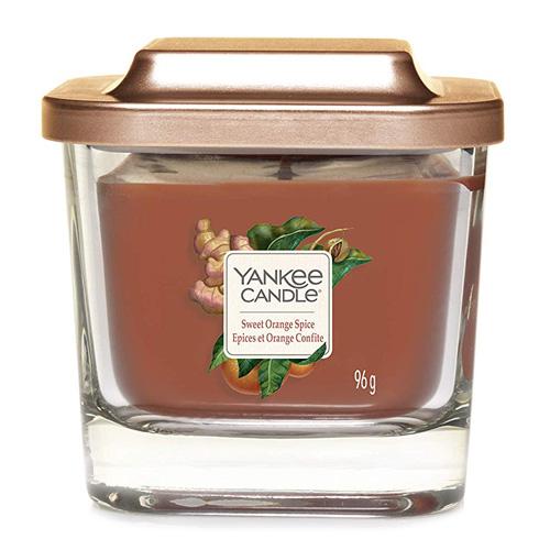 Svíčka ve skleněné váze Yankee Candle Sladký pomeranč a koření, 96 g