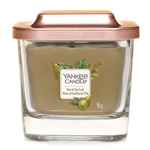 Svíčka ve skleněné váze Yankee Candle Hruška a čajové lístky, 96 g