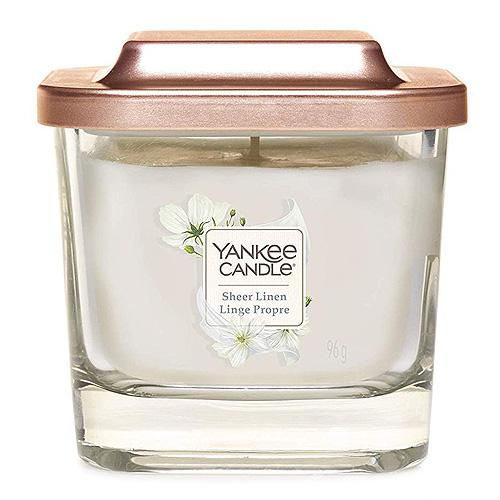 Svíčka ve skleněné váze Yankee Candle Čisté prádlo, 96 g
