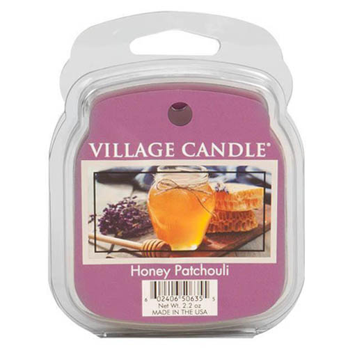 Vonný vosk Village Candle Med a pačuli, 62 g