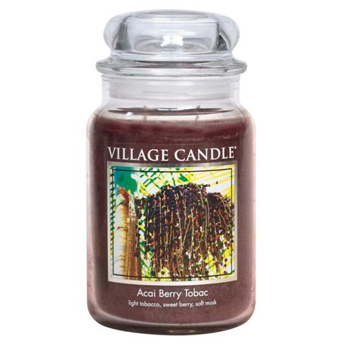 Svíčka ve skleněné dóze Village Candle Tabák a plody akai, 737 g