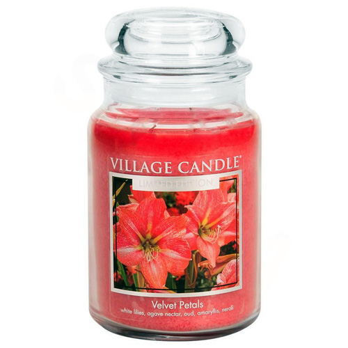 Svíčka ve skleněné dóze Village Candle Sametové květy, 737 g
