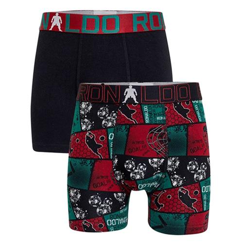 Dětské boxerky CR7 Trunk 2-Pack World Cup | Černá | 146-152 cm (10-12)
