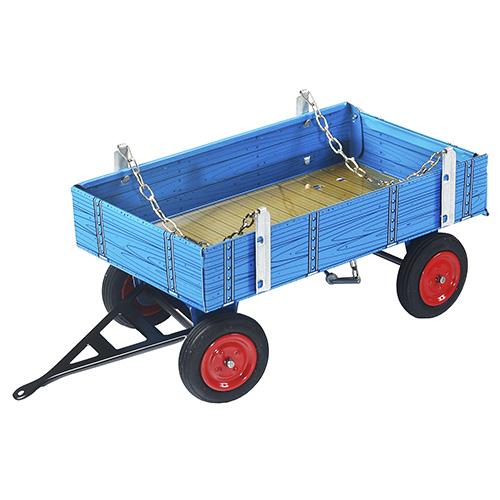 Valník za traktor Kovap Eilbulldog, plechový, modrý