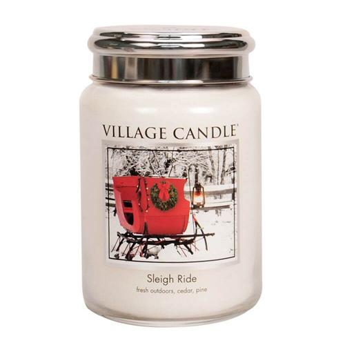 Svíčka ve skleněné dóze Village Candle Zimní vyjížďka, 737 g