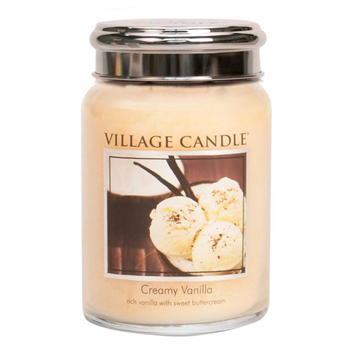 Svíčka ve skleněné dóze Village Candle Vanilková zmrzlina, 737 g