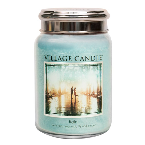 Svíčka ve skleněné dóze Village Candle Déšť, 737 g