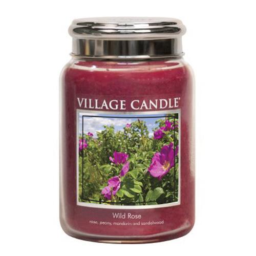 Svíčka ve skleněné dóze Village Candle Divoká růže, 737 g