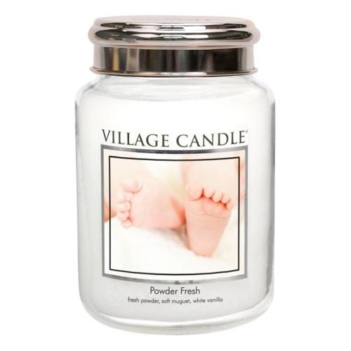 Svíčka ve skleněné dóze Village Candle Pudrová svěžest, 737 g