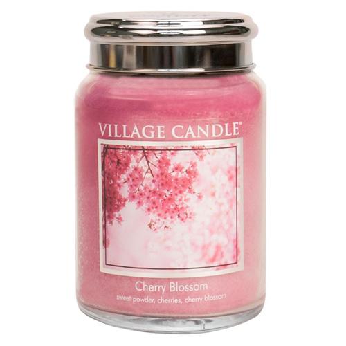 Svíčka ve skleněné dóze Village Candle Třešňový květ, 737 g