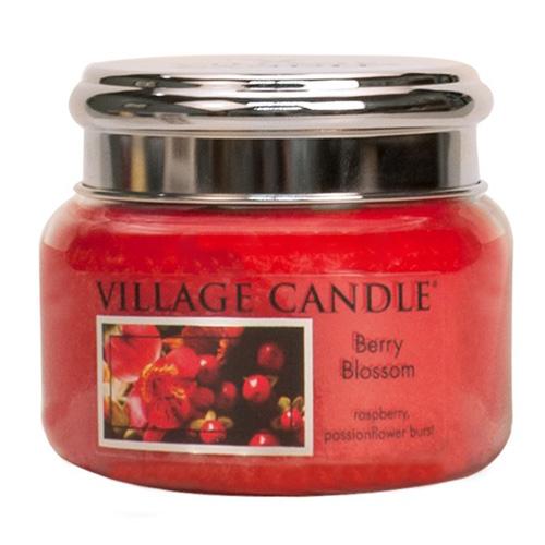 Svíčka ve skleněné dóze Village Candle Červené květy, 312 g