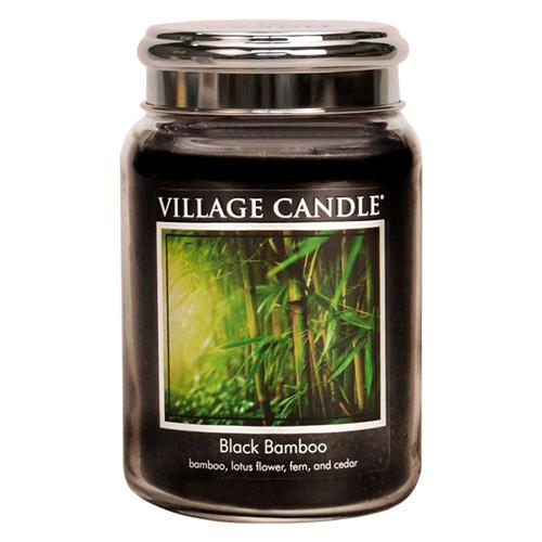 Svíčka ve skleněné dóze Village Candle Černý bambus, 737 g