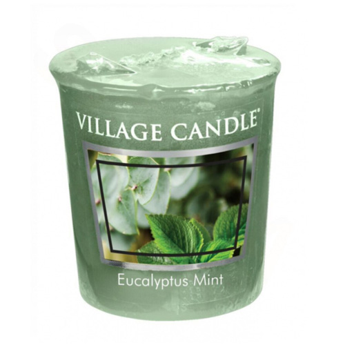 Vonná svíčka Village Candle Eukalyptus a máta, 57 g