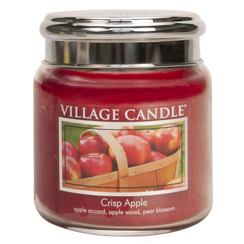 Svíčka ve skleněné dóze Village Candle Svěží jablko, 454 g