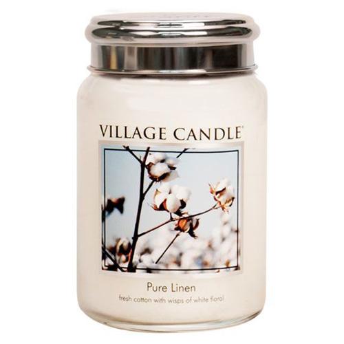 Svíčka ve skleněné dóze Village Candle Čisté prádlo, 737 g