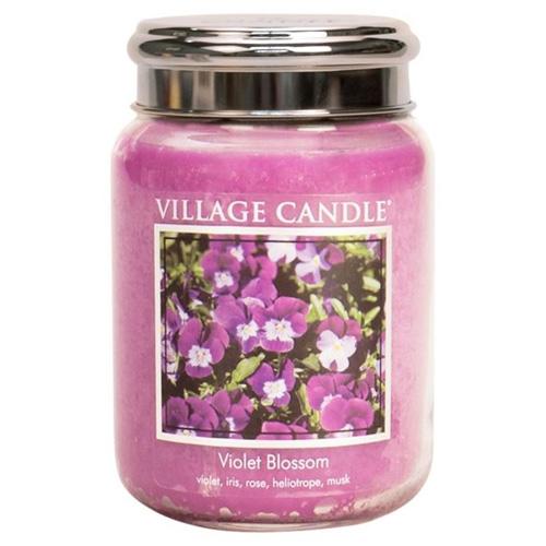 Svíčka ve skleněné dóze Village Candle Fialky, 737 g