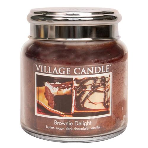 Svíčka ve skleněné dóze Village Candle Čokoládový dortík, 454 g