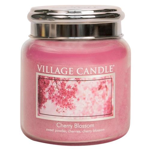 Svíčka ve skleněné dóze Village Candle Třešňový květ, 454 g