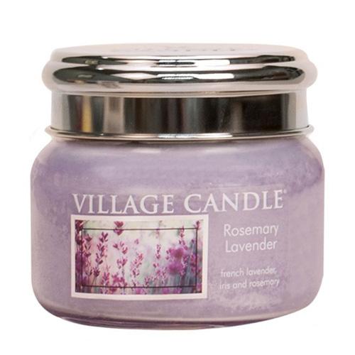 Svíčka ve skleněné dóze Village Candle Rozmarýn a levandule, 312 g