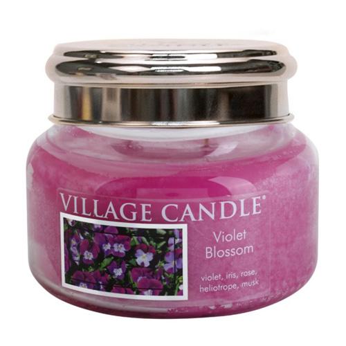 Svíčka ve skleněné dóze Village Candle Fialky, 312 g