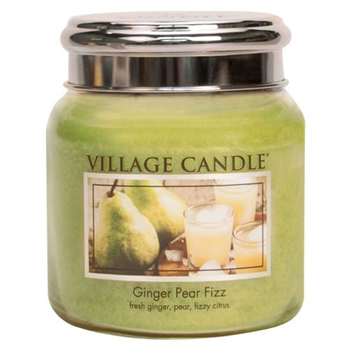 Svíčka ve skleněné dóze Village Candle Hruškový fizz se zázvorem, 454 g