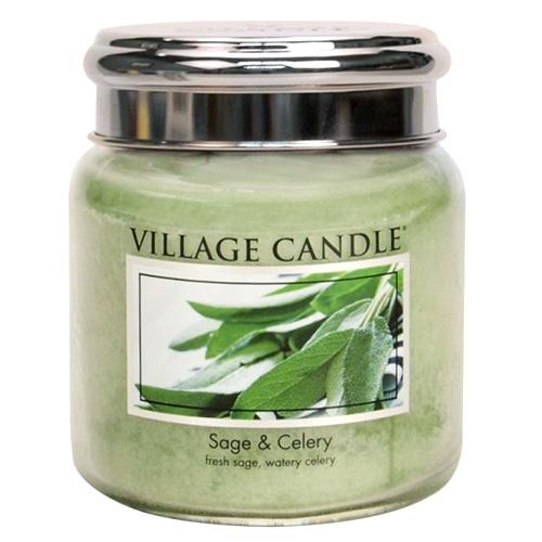Svíčka ve skleněné dóze Village Candle Svěží šalvěj, 454 g