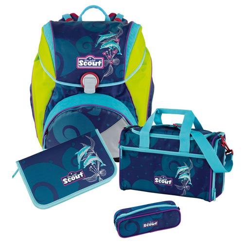 Školní set Scout 4-dílný - Alpha, delfíni