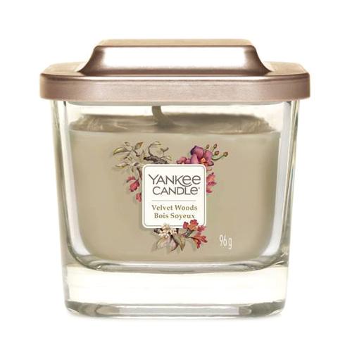 Svíčka ve skleněné váze Yankee Candle Sametové dřevo, 96 g