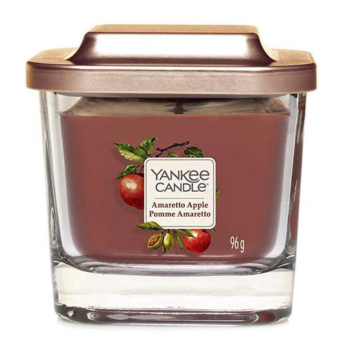 Svíčka ve skleněné váze Yankee Candle Amaretto s jablkem, 96 g